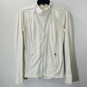 Lululemon Athletica White Zip Up Jacket Size 6